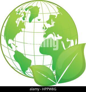 Rendez-vous sur l'écologie vert Banque D'Images