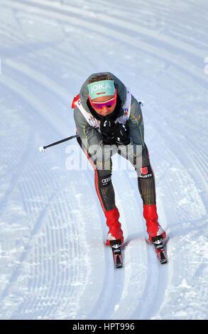 Lahti, Finlande. Feb 24, 2017. Athlète allemande Stefanie Böhler en action à la *Championnats du Monde de ski nordique Banque D'Images