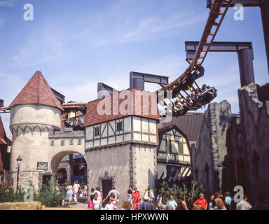Le Vampire Ride, Chessington World of Adventures, Chessington, Greater London, Angleterre, Royaume-Uni Banque D'Images