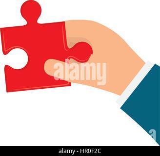 Pièce de puzzle denteux Banque D'Images