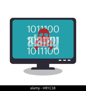 Le concept du système de piratage icons Banque D'Images