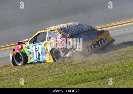Daytona Beach, Floride, USA. Feb 26, 2017. 26 février 2017 - Daytona Beach, Floride, USA: .Dale Earnhardt Jr. (88), Banque D'Images
