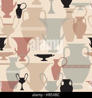 Vase grec modèle transparent fond intérieur en céramique de la culture de la Grèce. la texture. Banque D'Images