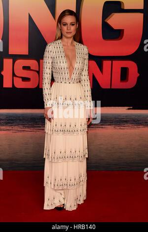 Londres, Royaume-Uni. 28 Février, 2017. Brie Larson assistant à la première européenne de KONG Skull Island au Cineworld Empire Leicester Square Londres, le mardi 28 février 2021 Crédit: Peter Phillips/Alamy Live News