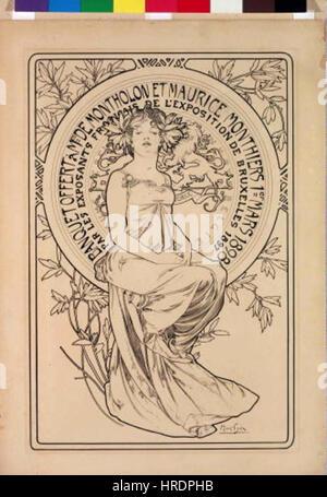 Autor Alfons Mucha 24.7.1860-14.7,1939 - Plakat na banket