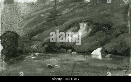 Carl Spitzweg 1808-1885 - Horsky potok Banque D'Images