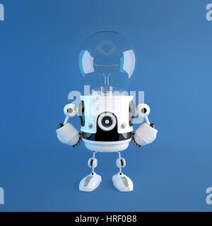 Tête de Lampe robot. Idée créative concept Banque D'Images