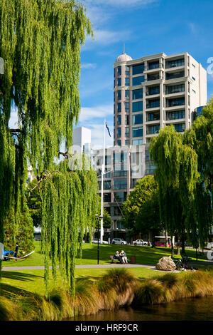 Christchurch, Nouvelle-Zélande - 20 janvier 2010: dans la région de Christchurch Central City dévastée dans le tremblement de terre 2011 Canterbury Banque D'Images
