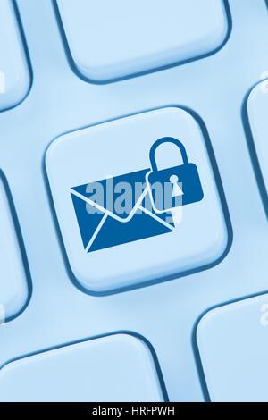 L'envoi d'e-mail crypté sécurisé protection internet mail web en ligne Banque D'Images