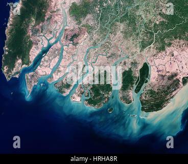 Delta du Fleuve Irrawaddy Banque D'Images
