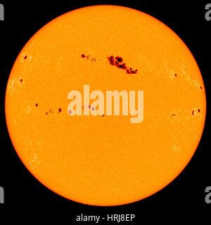 Les taches solaires, l'image de SOHO Banque D'Images