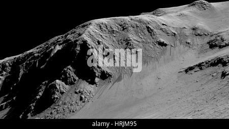 Le débit saisonnier de l'eau sur Mars Banque D'Images