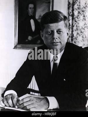 John F. Kennedy, 35e président des États-Unis Banque D'Images