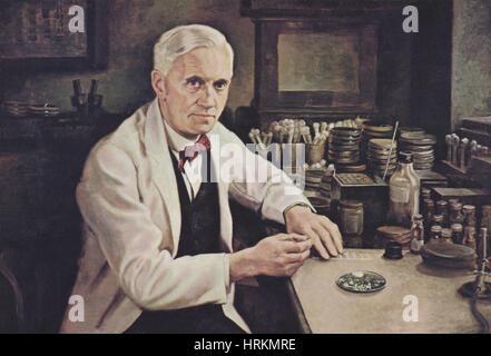 Alexander Fleming, biologiste écossais Banque D'Images