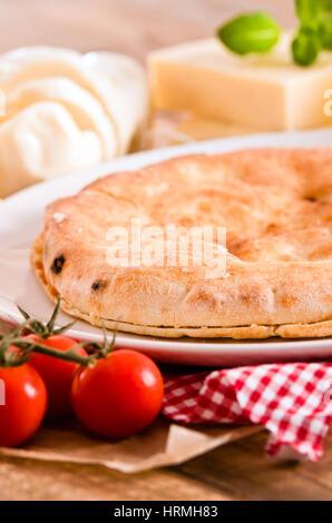 Pain focaccia au fromage. Banque D'Images