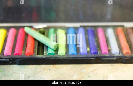 Fort de l'artiste pastels, utilisé Banque D'Images