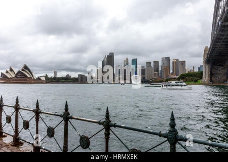 Sydney, Australie. 3e mars 2017. Une semaine de fortes pluies et des orages continue sur Sydney et certaines parties Banque D'Images