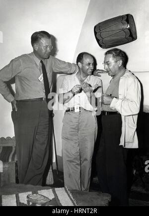 Lawrence, Fermi et Rabi, les physiciens