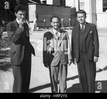 Oppenheimer, Fermi et Lawrence, 1940