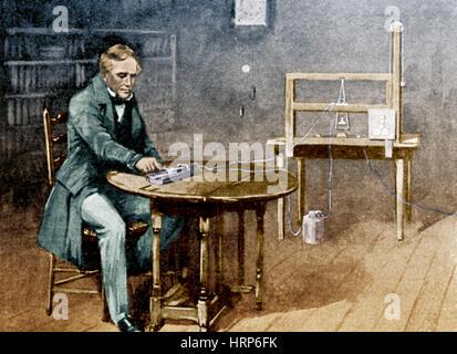 Samuel Morse et télégraphe Banque D'Images