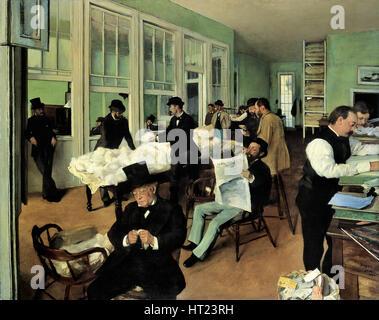 Un bureau de coton à la Nouvelle Orléans (Le Bureau de coton à La Nouvelle-Orléans), 1873. Artiste: Degas, Edgar (1834-1917) Banque D'Images
