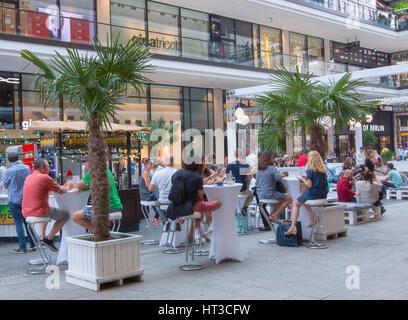 Le nouveau centre commercial de Berlin de la Leipziger Platz, Berlin Banque D'Images