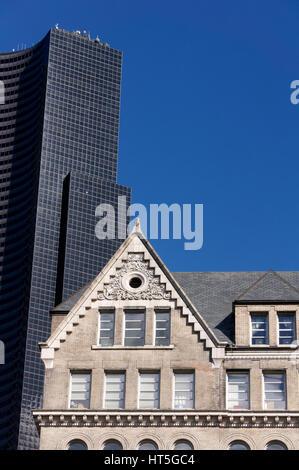 Ancienne et nouvelle architecture urbaine dans Seattle, Washington State, USA Banque D'Images