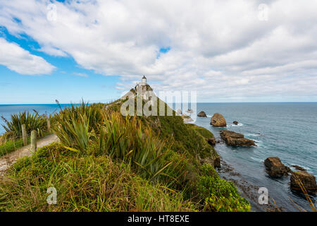 Phare de Catlins, Nugget Point, Southland, Nouvelle-Zélande Banque D'Images