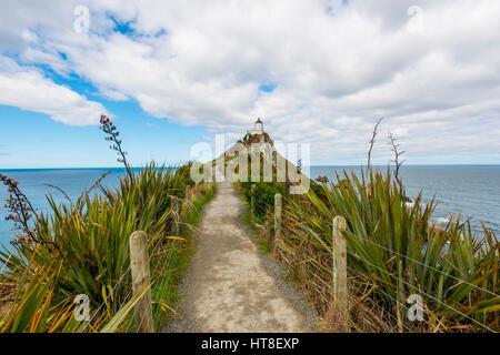 Phare de Catlins, Nugget Point, Southland, Nouvelle-Zélande Banque D'Images