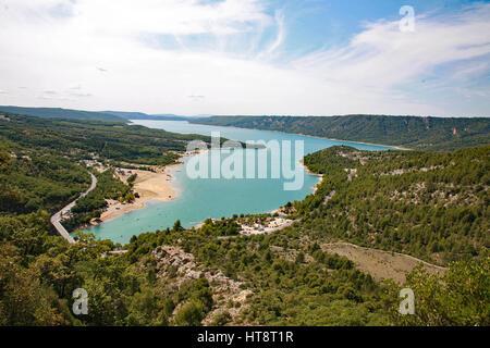 Le Lac Saint Croix, France Banque D'Images