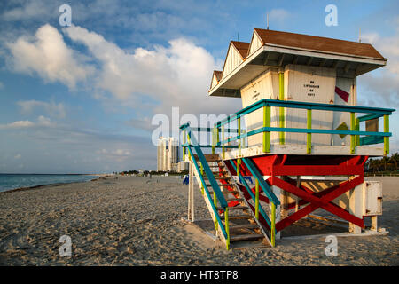 Lifeguard House, South Beach, Miami Beach, Floride Banque D'Images