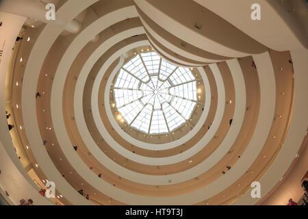 USA, New York, Manhattan, Upper East Side, Guggenheim Museum Banque D'Images