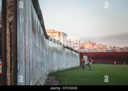 Mémorial du Mur de Berlin, Berlin, Allemagne Banque D'Images