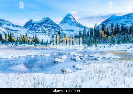Le mont Assiniboine, le parc provincial du mont Assiniboine, Colombie Britannique, Canada Banque D'Images