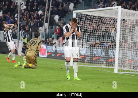 Marko Pjaca (Juventus) au cours de la série d'un match de football entre la Juventus et le Milan AC à la Juventus Banque D'Images