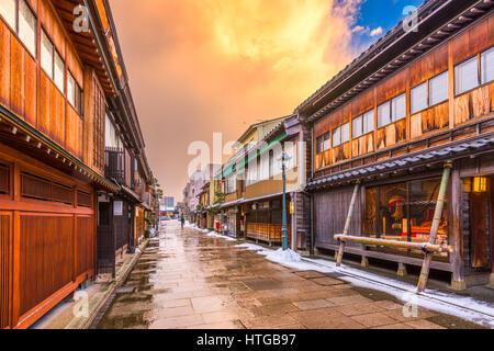 Kanazawa, Japon lors de l'historique quartier Nishi Chaya.