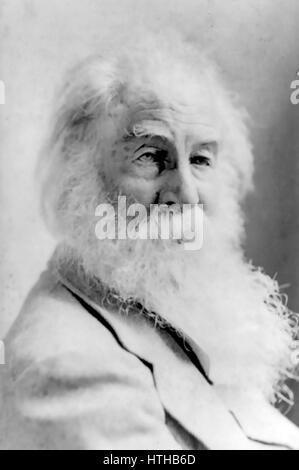 WALT WHITMAN (1819-1892) poète américain vers 1887 Banque D'Images