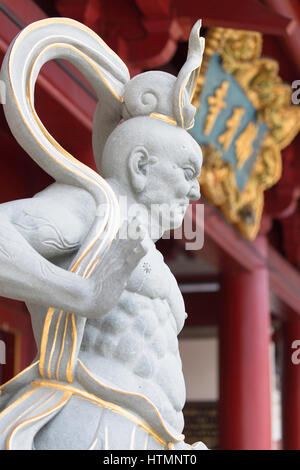 Statue de Buddha Tooth Relic Temple, Chinatown, Singapour Banque D'Images