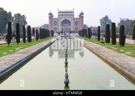 Taj Mahal, Uttar Pradesh, Inde Banque D'Images