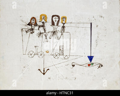 Paul Klee - la vertu Wagon (à la mémoire du 5 octobre 1922) - Google Art Project Banque D'Images