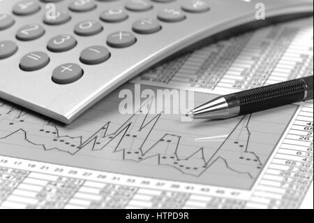 Le tableau montre graphique avec succès à la finance et bourse Banque D'Images