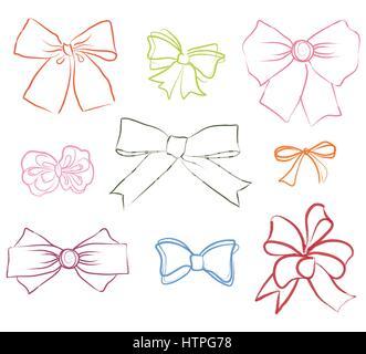 Arcs cadeau avec des rubans fixés. don bow décoration vacances signe
