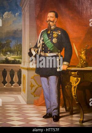 Rome, Italie. Victor Emmanuel II, 1820-1878, Roi de Sardaigne, roi d'Italie. Après la peinture originale dans le Banque D'Images