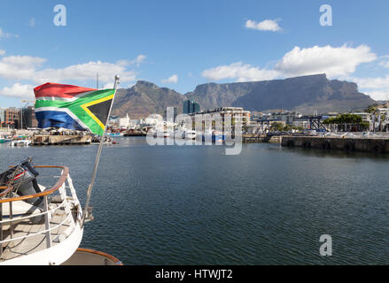 Front de mer du Cap, avec Table Mountain, Cape Town Afrique du Sud Banque D'Images