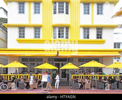 Leslie Hotel dans quartier Art déco de Miami South Beach (SoBe).