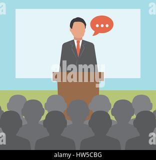 Conférence. Business concept illustration