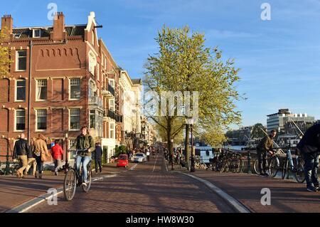 Pays-bas, le nord de la Hollande, Amsterdam, Amstel Banque D'Images