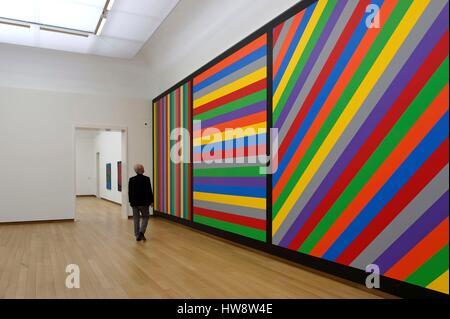Pays-bas, le nord de la Hollande, Amsterdam, Museum District, Stelelikj Museum, le travail de Sol Lewitt, dessin Banque D'Images