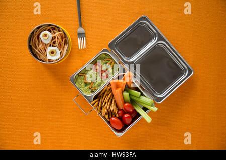 Boîte à lunch saine Banque D'Images