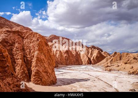 Valle de la muerte paysage dans San Pedro de Atacama, Chili Banque D'Images